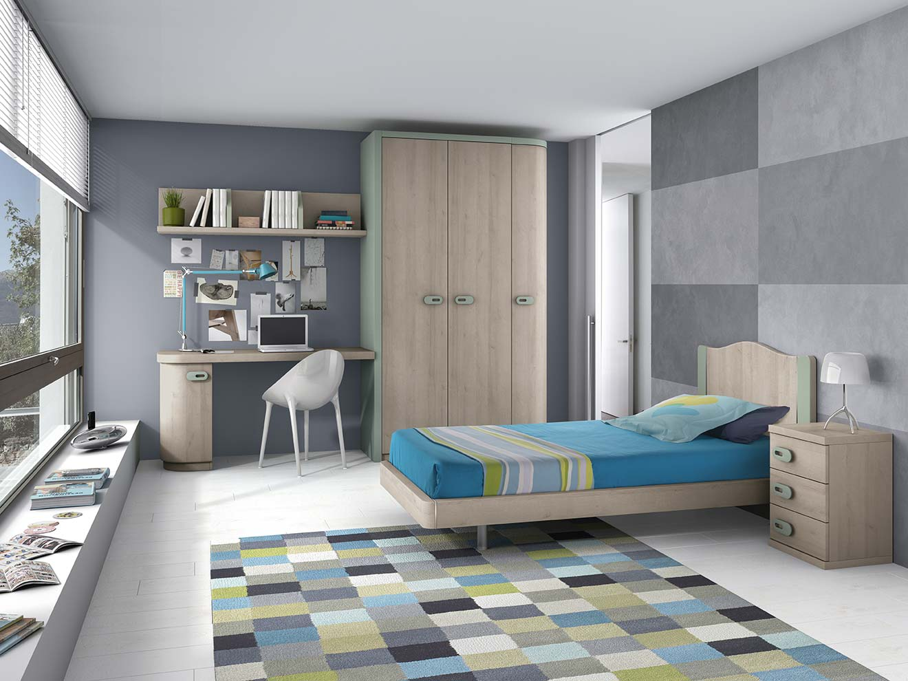 Juveniles muebles jp for Disenar dormitorio juvenil 3d