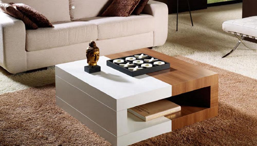Mesas de centro muebles jp - Mesa de centro con puff ...