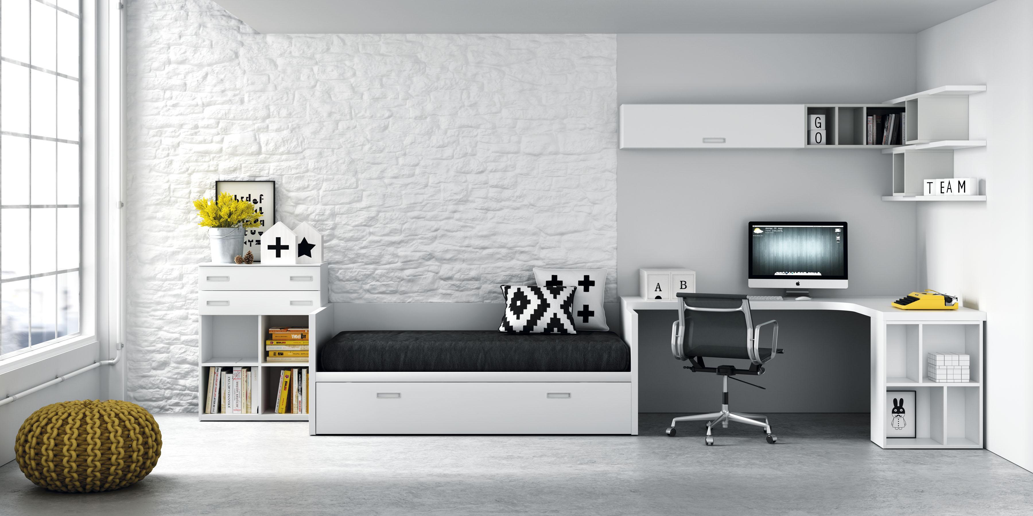 Habitaciones muebles jp for Camas infantiles diseno moderno